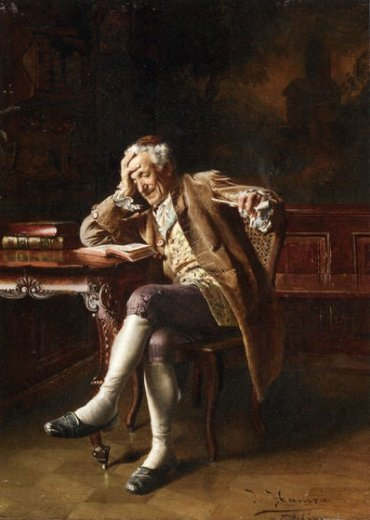 johann hamza an old man reading paintings