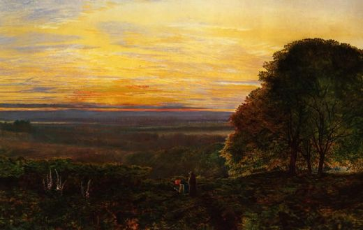 john atkinson grimshaw sunset from chilworth common hampshire posters
