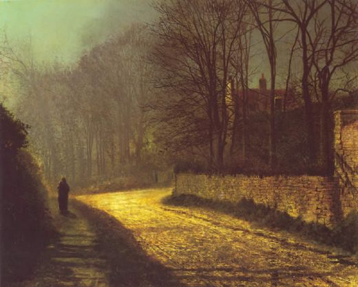 john atkinson grimshaw the lovers painting