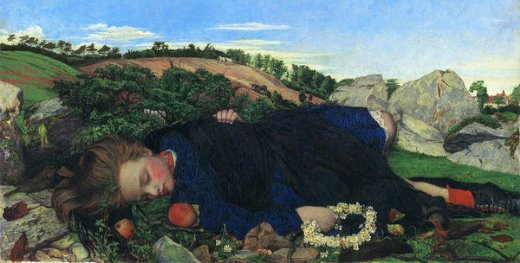 john roddam spencer stanhope robins of modern times oil painting