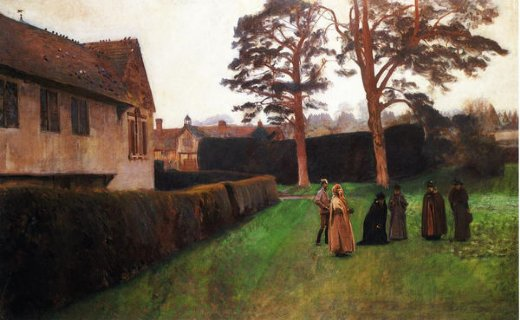 john singer sargent a game of bowls ightham mote kent painting
