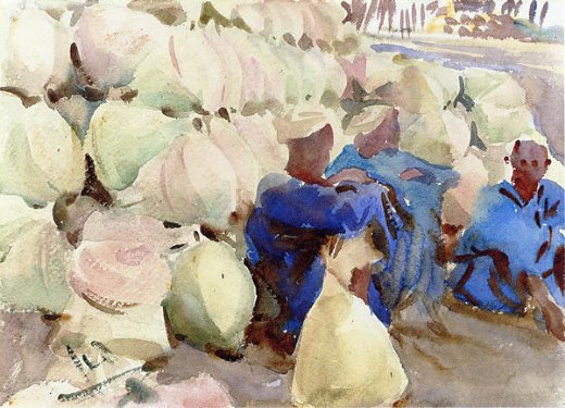 john singer sargent egyptian water jars oil painting