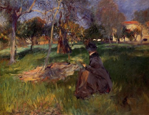 john singer sargent in the orchard painting
