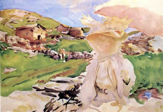 john singer sargent in the simplon pass painting