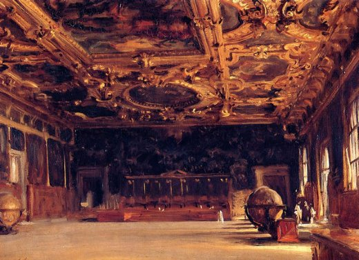 john singer sargent interior of the doge s palace paintings