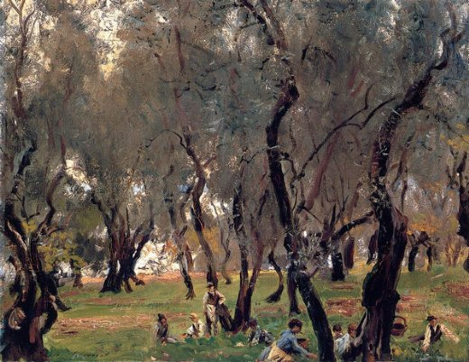 john singer sargent the olive grove oil painting