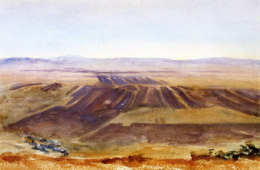 john singer sargent the plains from nazareth paintings