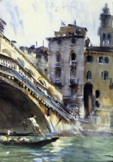 john singer sargent the rialto venice paintings
