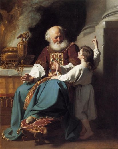 john singleton copley samuel reading to eli the judgments of god upon eli s house paintings