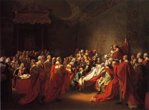 john singleton copley the colapse of the earl of chatham in the house of lords oil painting