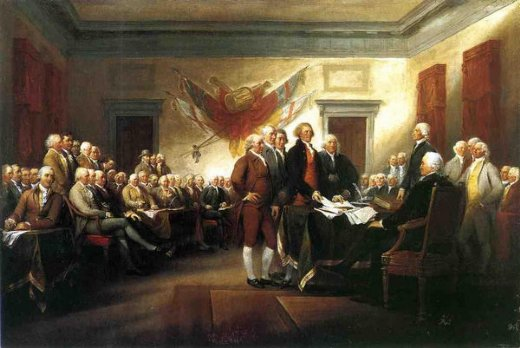 john trumbull the declaration of independence painting