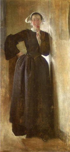 john white alexander josephine the breton maid painting