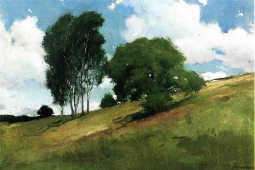 john white alexander landscape painted at cornish new hampshire painting