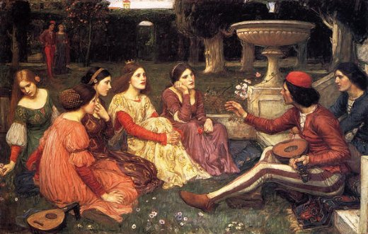 john william waterhouse a tale from the decameron paintings