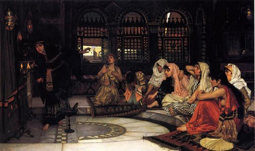john william waterhouse consulting the oracle painting