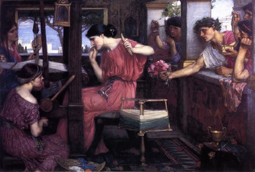 john william waterhouse penelope and the suitors paintings