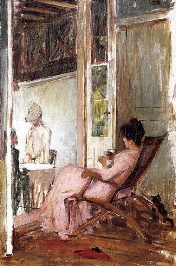john william waterhouse the loggia sketch painting