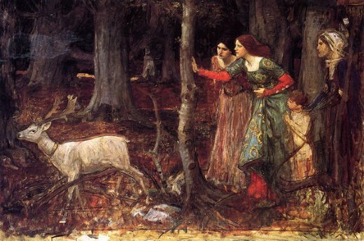 john william waterhouse the mystic wood oil painting