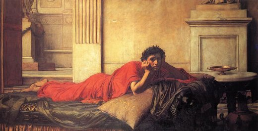 john william waterhouse the remorse of nero after the murder of his mother painting