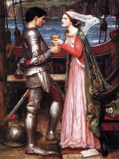 john william waterhouse tristram and isolde painting