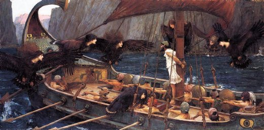 john william waterhouse ulysses and the sirens painting