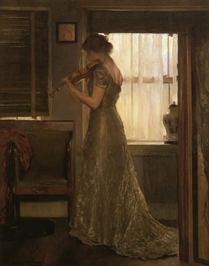 joseph decamp the violinist painting