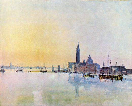 joseph mallord william turner venice san guirgio from the dogana sunrise paintings