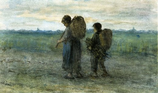 jozef israels gathering faggots paintings