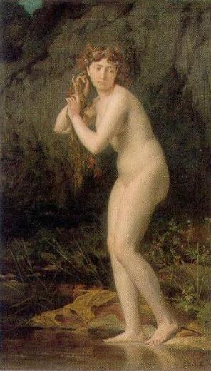 jules joseph lefebvre a bathing nude paintings
