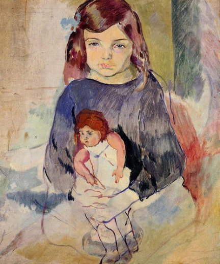jules pascin young girl with a doll posters