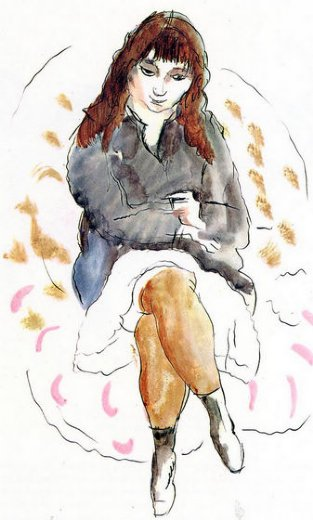 jules pascin young woman seated posters