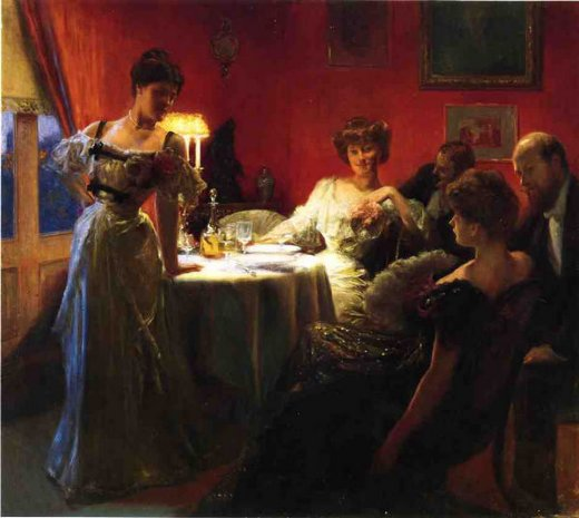 julius leblanc stewart a supper party paintings