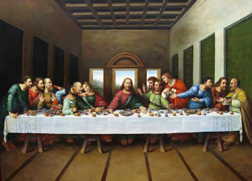 leonardo da vinci original picture of the last supper oil painting