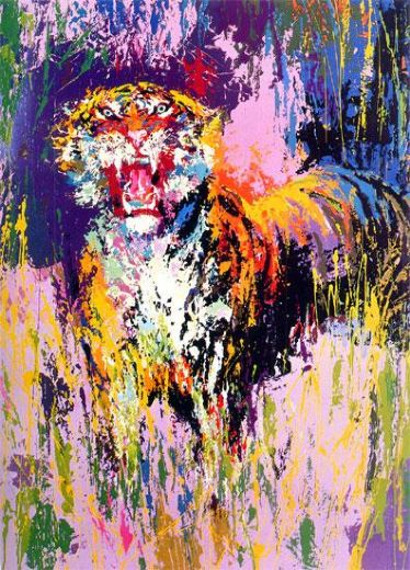 leroy neiman bengal tiger painting