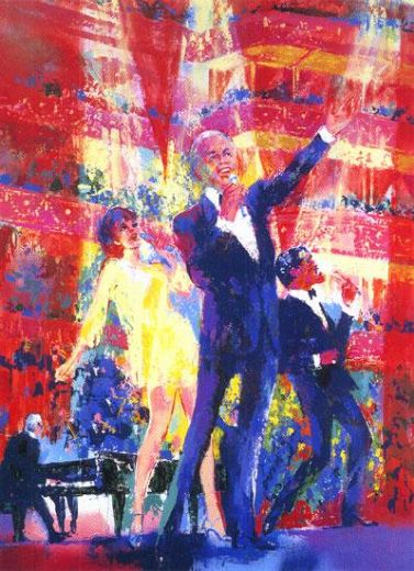 leroy neiman frank liza and sammy at royal albert hall painting