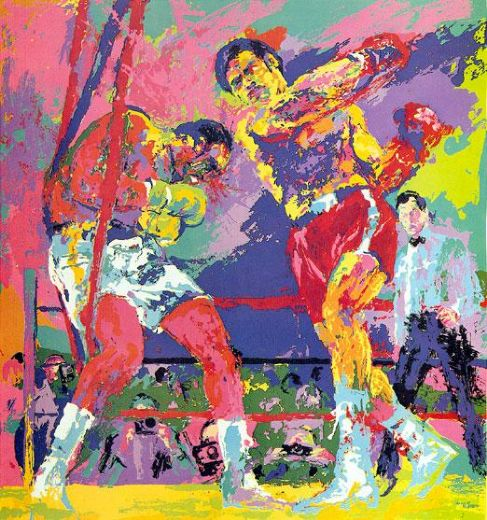leroy neiman frazier foreman jamaica paintings