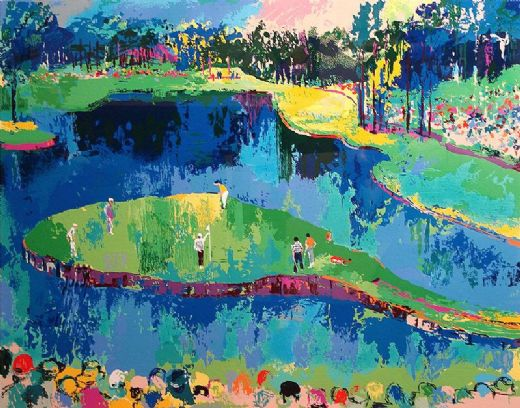 leroy neiman island hole at sawgrass painting