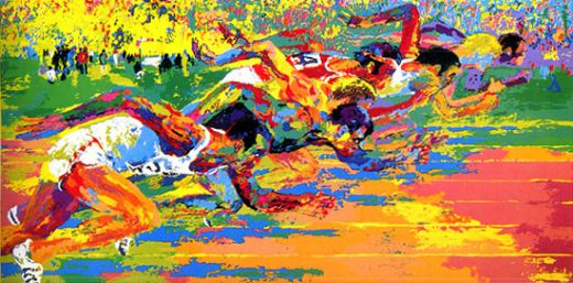 leroy neiman olympic track paintings