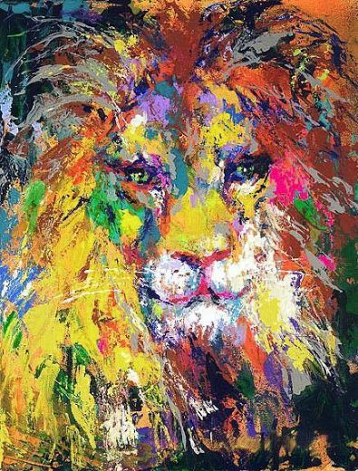 leroy neiman portrait of the lion paintings