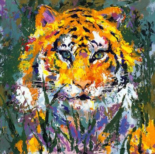 leroy neiman portrait of the tiger paintings