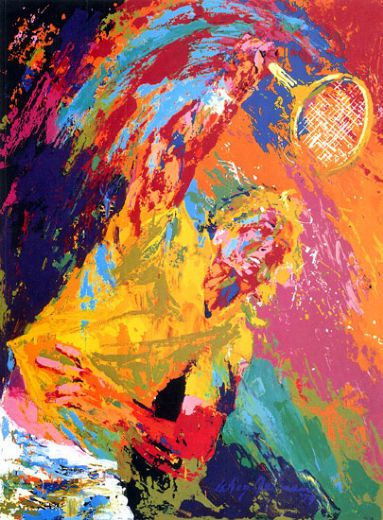leroy neiman power serve paintings