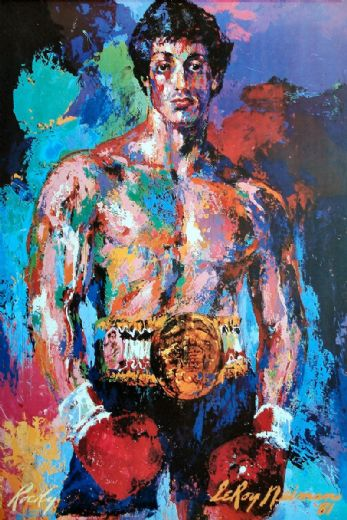 leroy neiman rocky balboa paintings