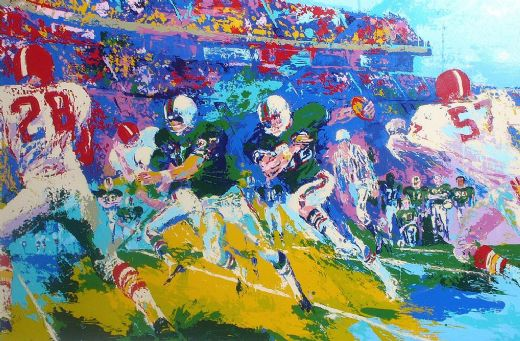 leroy neiman rushing back paintings