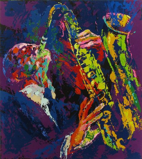 leroy neiman sax man paintings