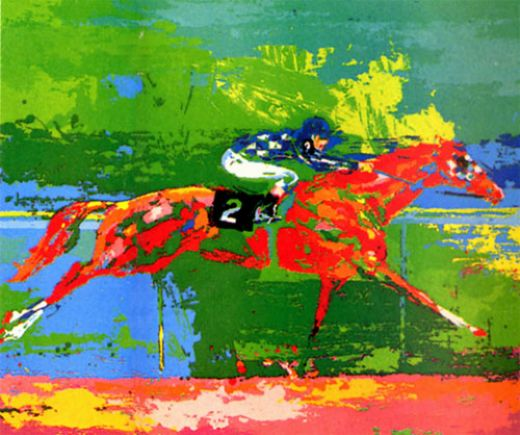 leroy neiman secretariat big red paintings