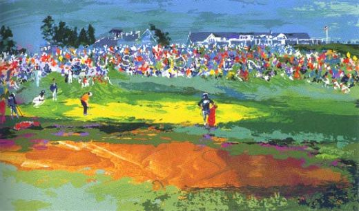 leroy neiman the home hole at shinnecock paintings