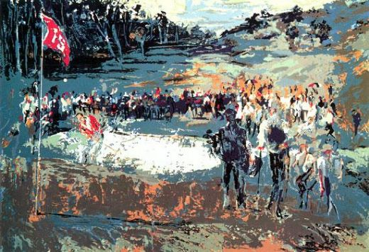 leroy neiman tournament golf painting
