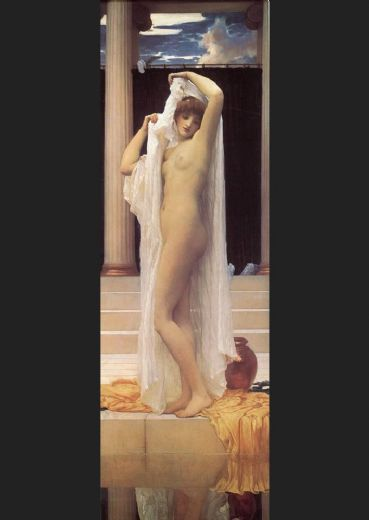 lord frederick leighton the bath of psyche painting