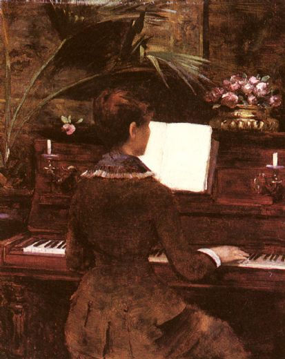 louise abbema at the piano painting