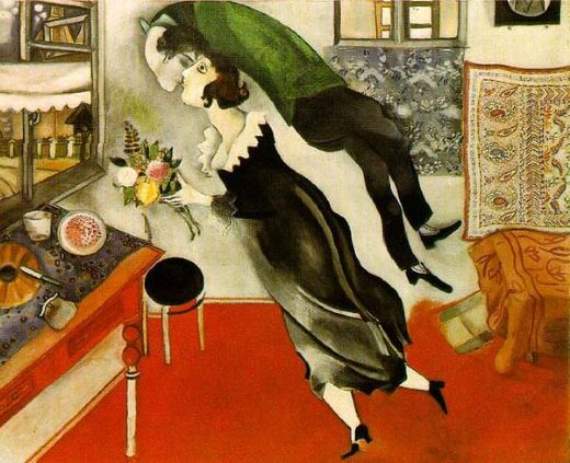 marc chagall birthday oil painting